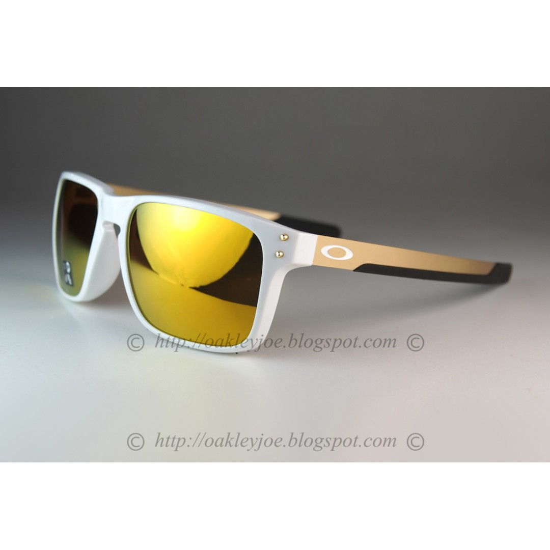 5f8a46bc65 BNIB Oakley Holbrook Mix Asian Fit polished white + 24k OO9385-0257 ...
