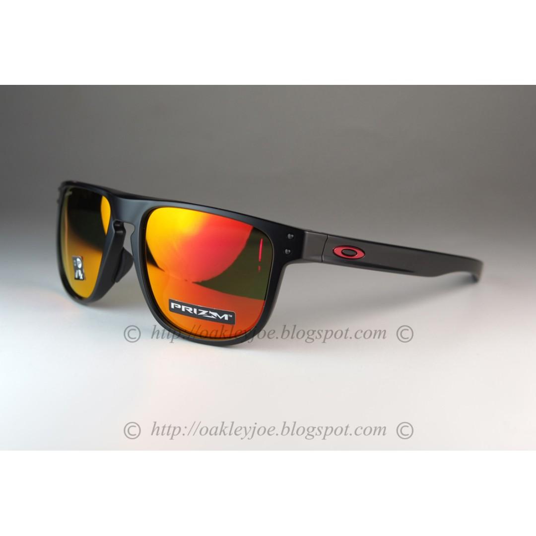 240ae1d8c6 BNIB Oakley Round Holbrook Asian Fit matte black + prizm ruby ...