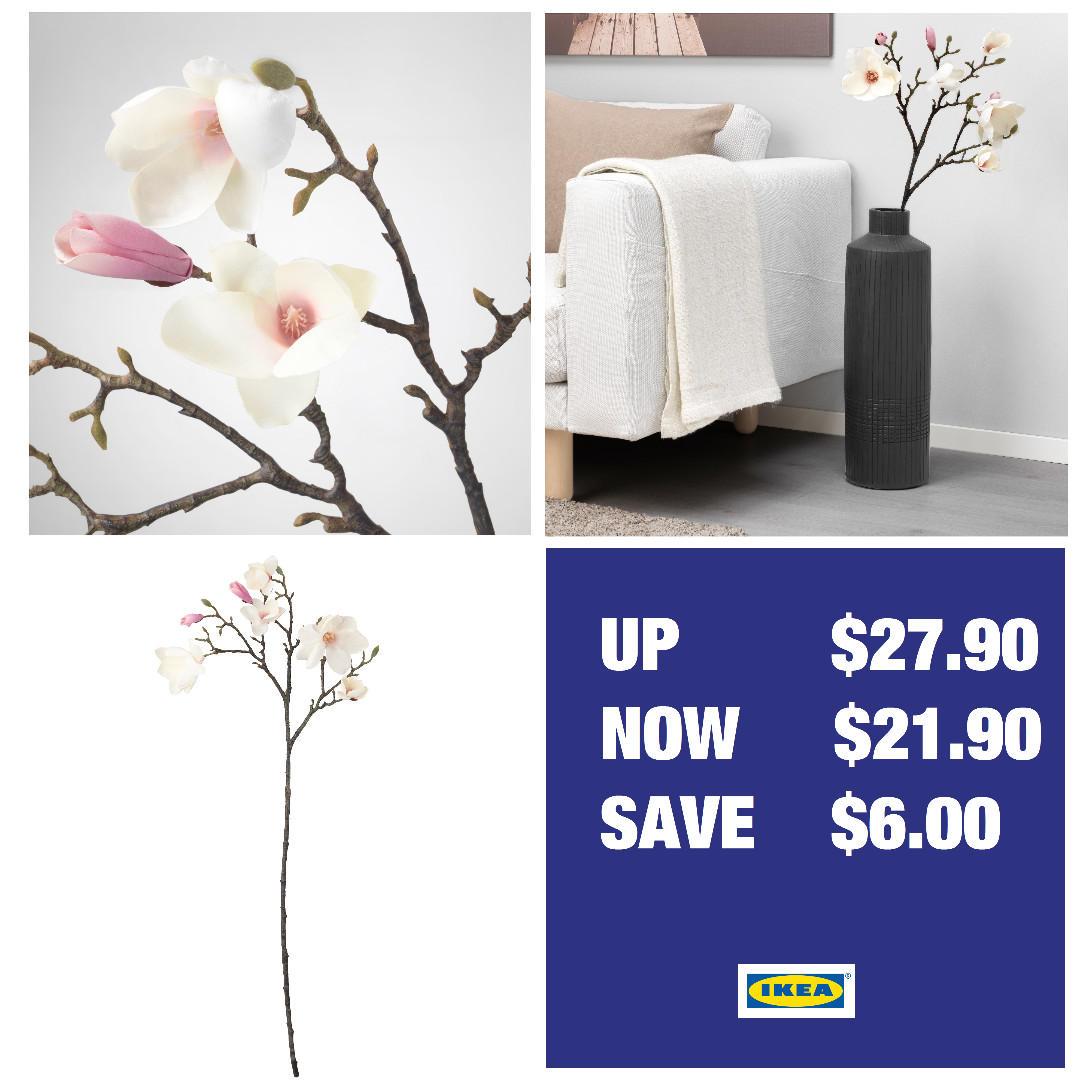 BRAND NEW Ikea SMYCKA Magnolia WITH TAG (50pc)