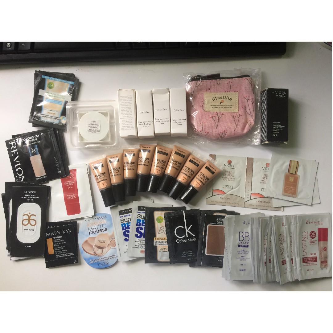 Bundle of 80+ Make up Samples From USA/Europe on Carousell