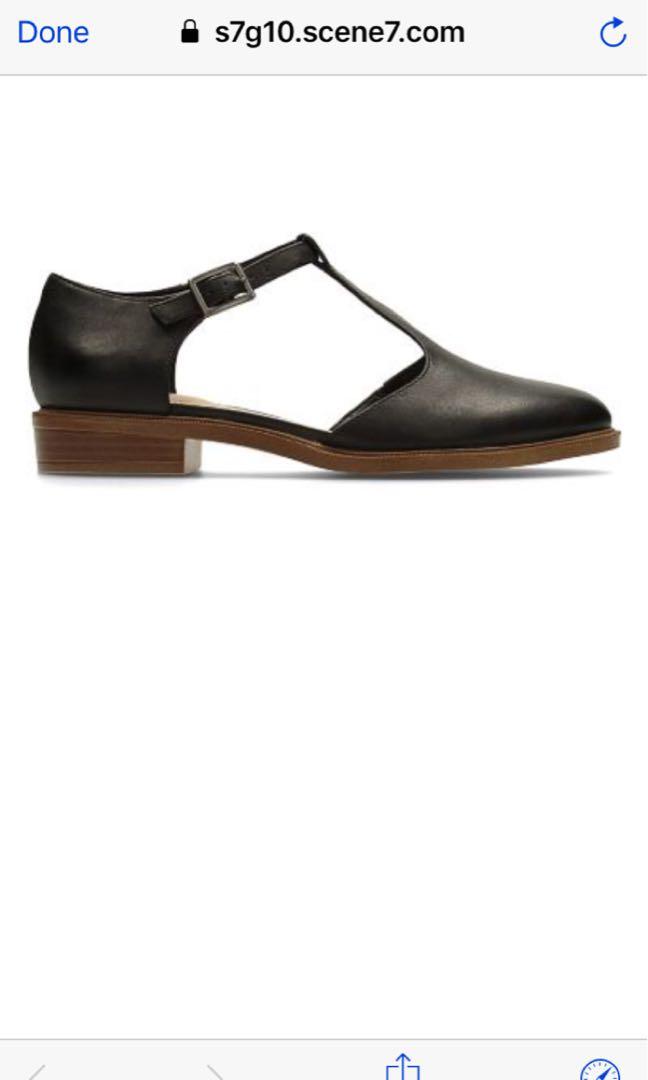 da8f58374ad9 Clarks Taylor Palm Black Leather