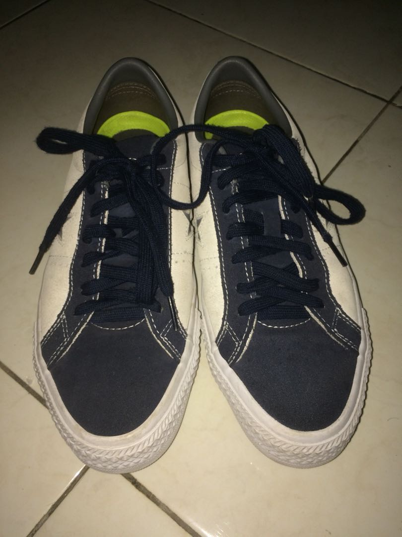 1be43928e9c65b Converse cons one star pro speckled suede ox obsidian white ...