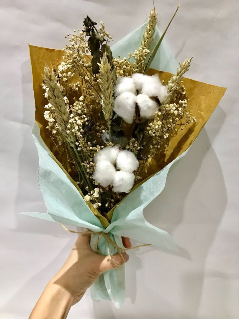 Cotton Flower Bouquet, Gardening, Flowers & Bouquets on Carousell