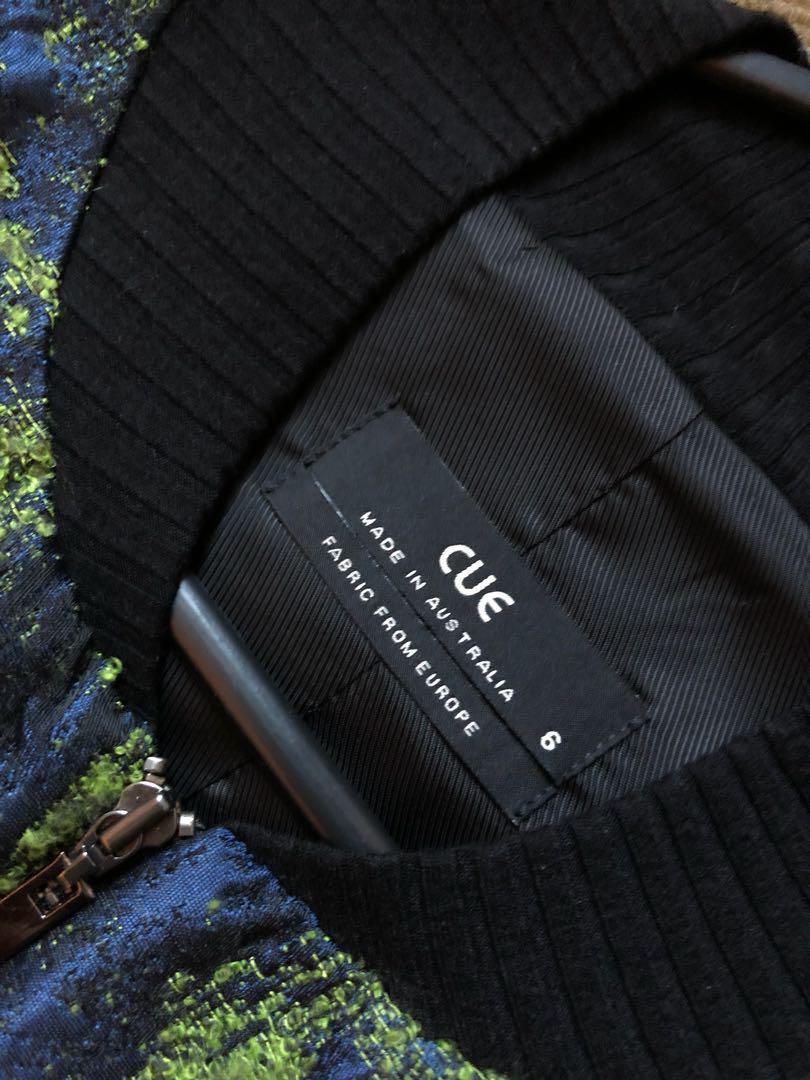 Cue Tweed rib jacket
