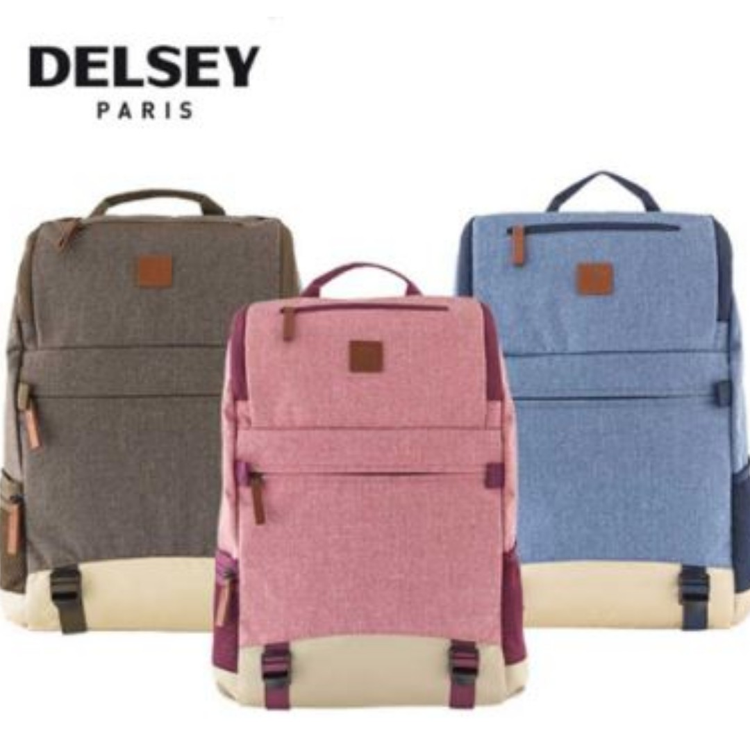 Delsey Maubert Backpack with Laptop Protection Travel Bag 0633eb049f79