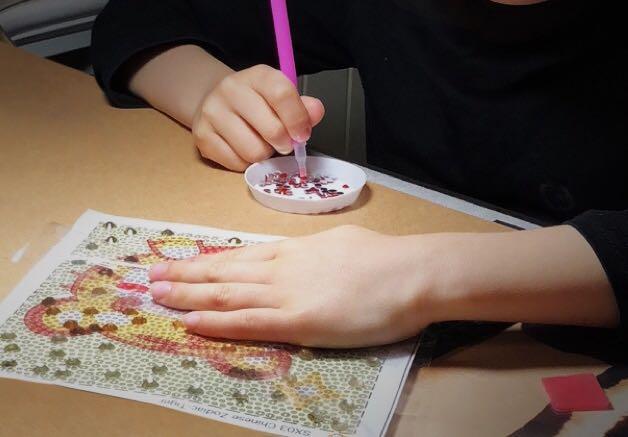 61e0c38ef DIY diamond Hello Kitty frame for kids, Babies & Kids, Toys & Walkers on  Carousell