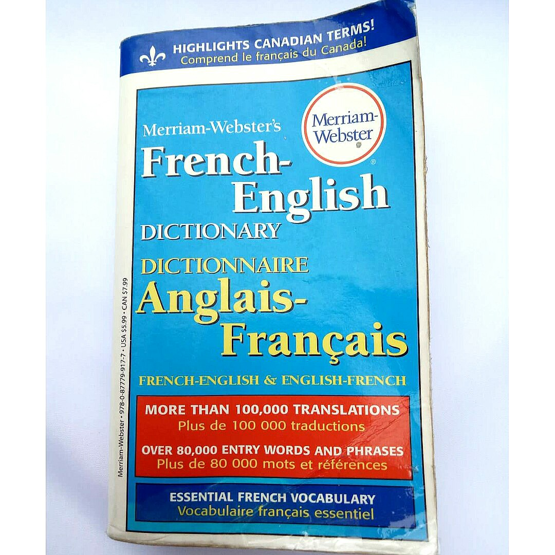 Merriam - Webster's Blue and White French - English Dictionary, Textbooks  on Carousell