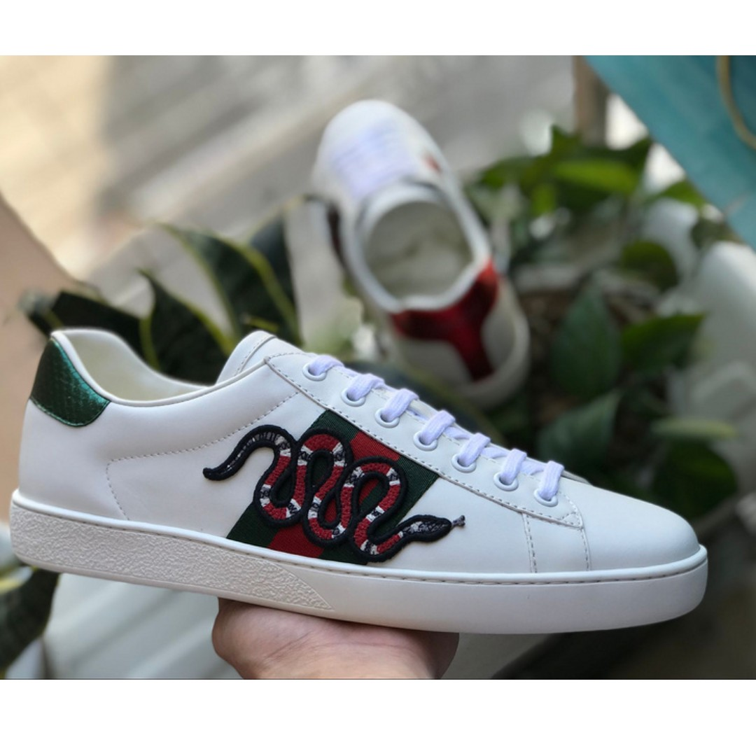 c325f8cff92 Gucci Ace Embroidery Sneaker Snake (OG)