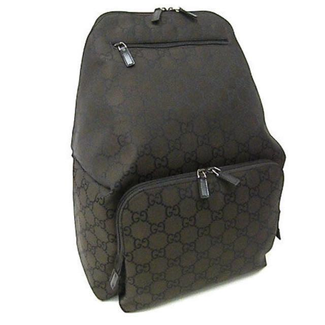 Gucci Nylon Monogram Medium Backpack , Luxury, Bags