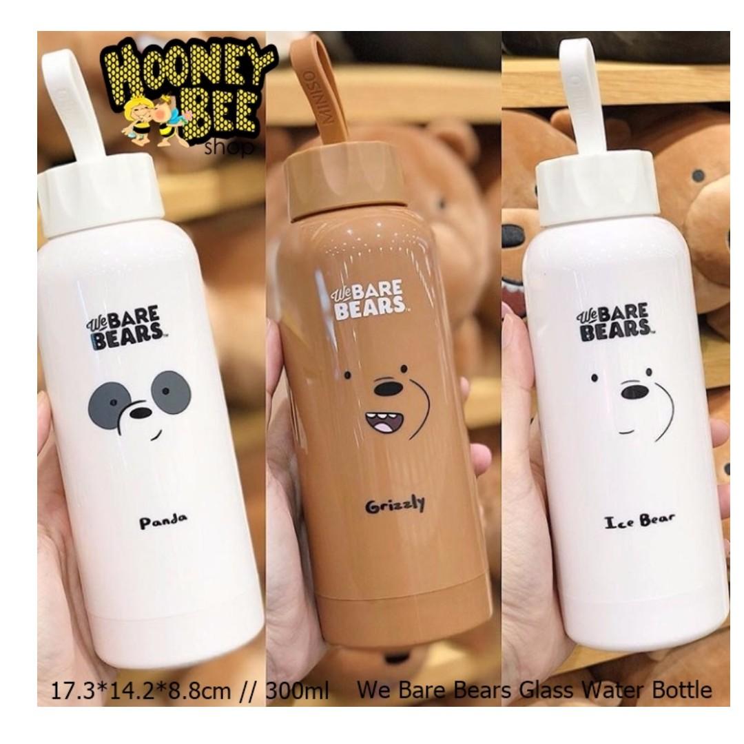 Japan Quality Miniso Botol Minum We Bare Bears Water Bottle Memo A5 Unik Kitchen Appliances On Carousell