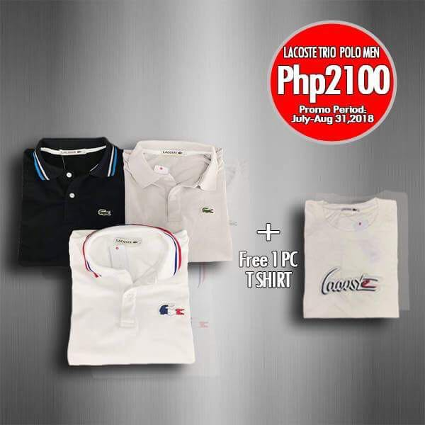 ba154651a Men's Lacoste Polo Shirt Trio, Men's Fashion, Clothes, Tops on Carousell