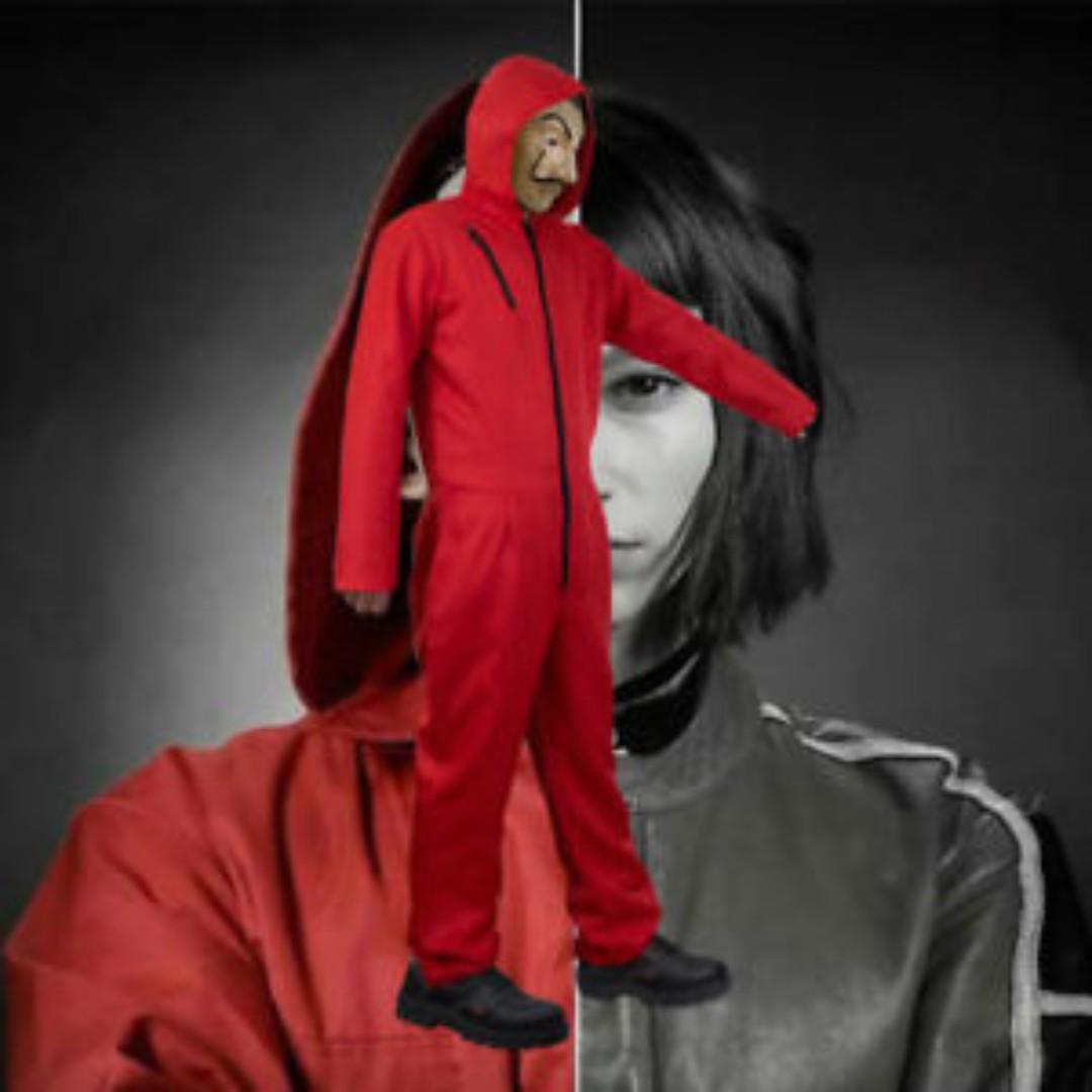 Money Heist La Casa De Papel Mask Cosplay Prop Jumpsuit Set