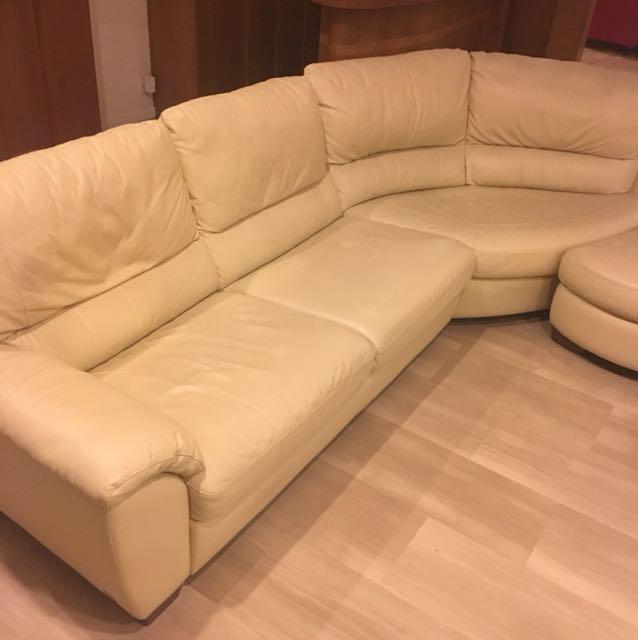 Natuzzi Italian Leather Sofa, Furniture, Sofas on Carousell