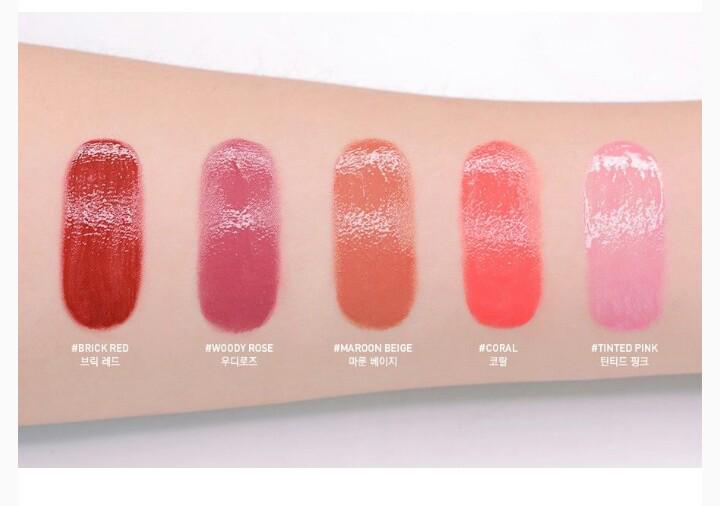 NEW! 3CE HEART POP LIP (shade : woody rose, maroon beige, coral, tinted pink, brick red)