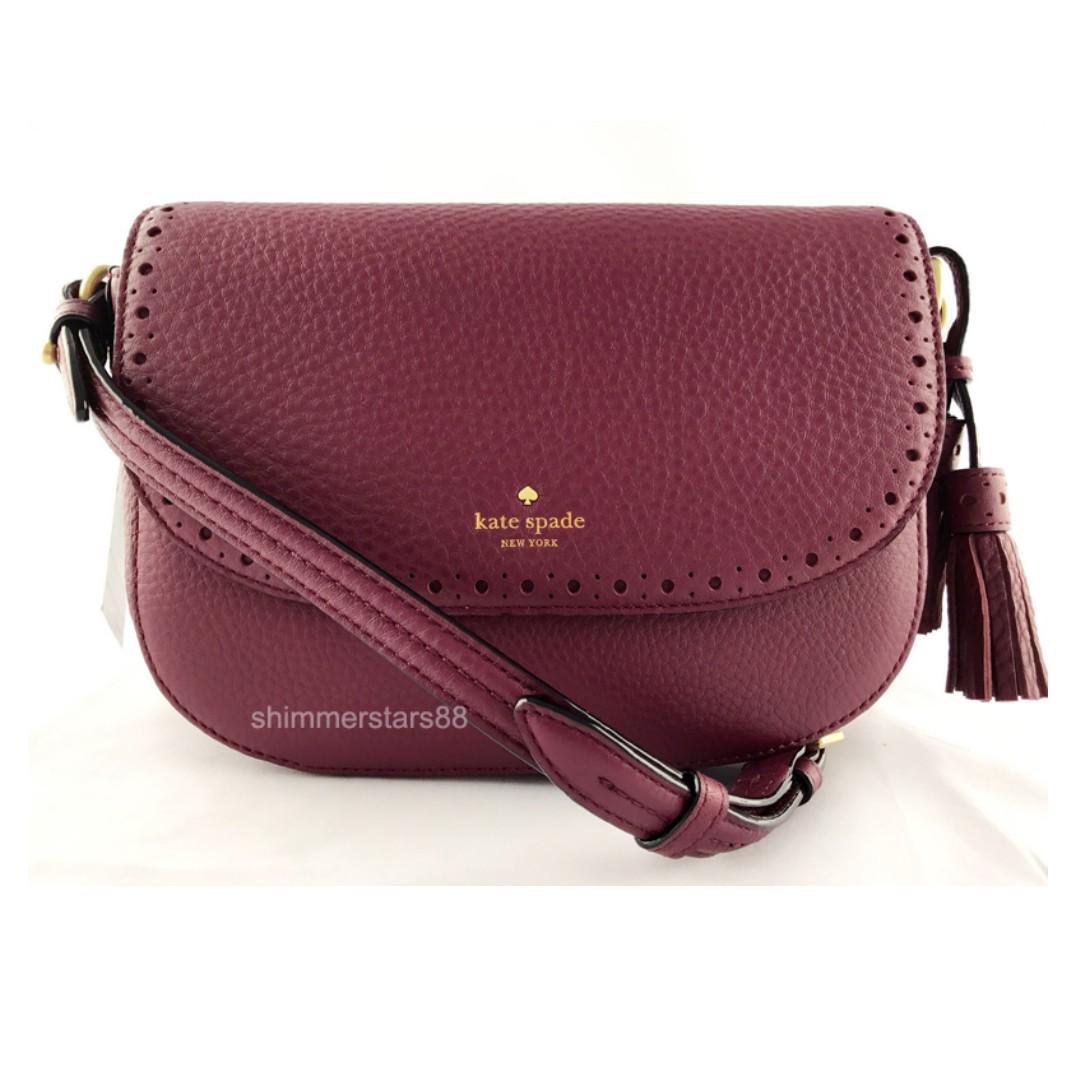 New!Kate Spade♠️James St Adelaide Cross body Leather Handbag
