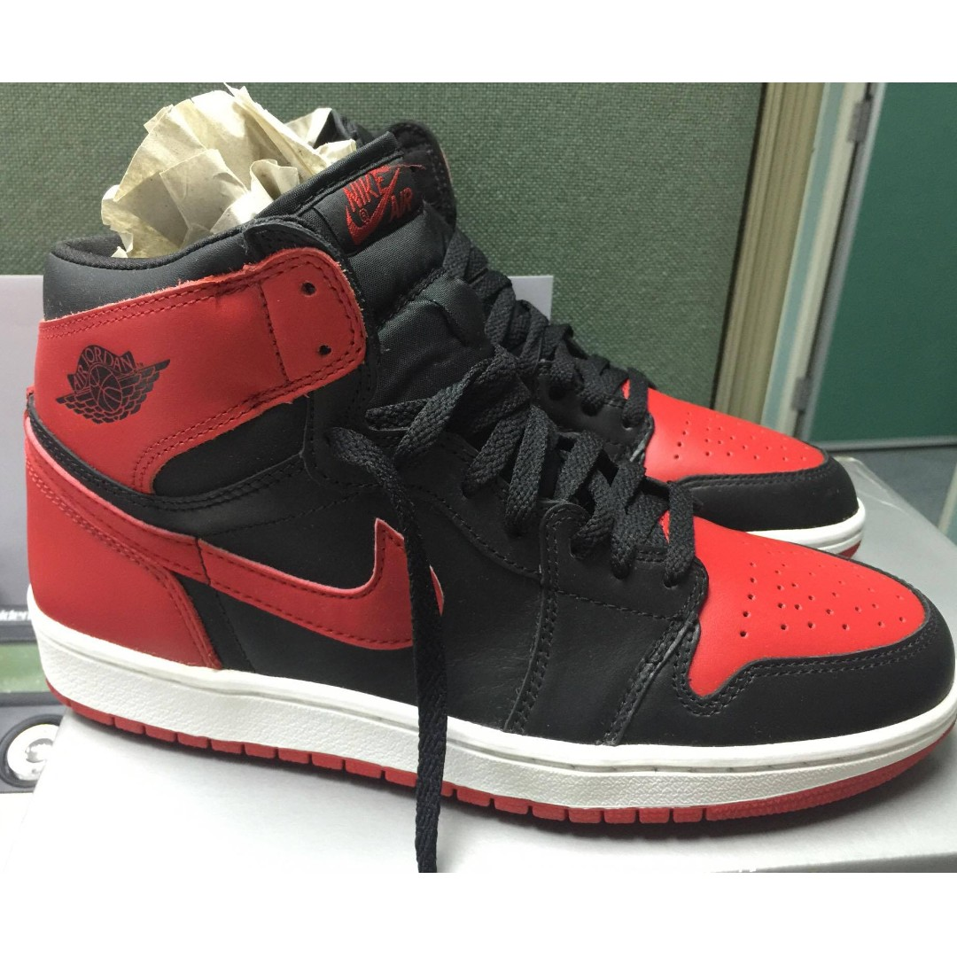 more photos e8e51 e2755 NIKE 'Air Jordan 1 Retro High OG Bred 2001 year 年版 紅黑版