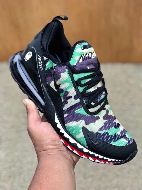Nike Air Max 270 Bape Verde Hombres En Fashion Calzado En Hombres Carousell c7f3a9