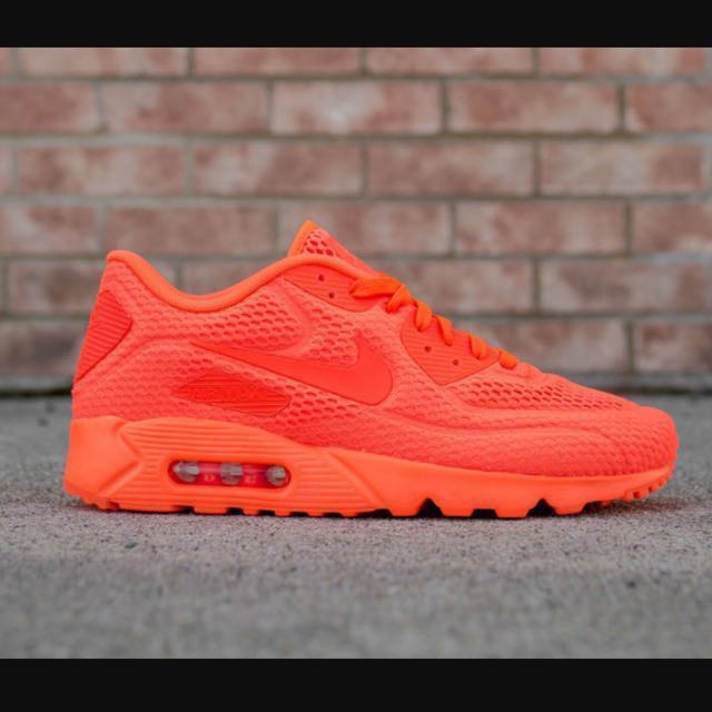 95ff7036e1 Nike Air Max 90 Ultra Br Bright Red US 11.5, Men's Fashion, Footwear on  Carousell