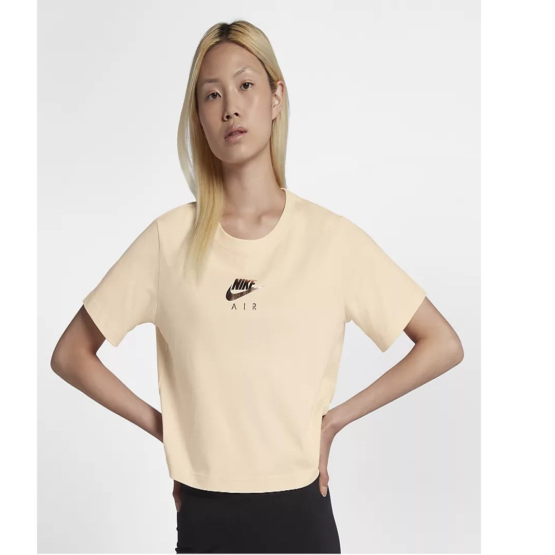 5e7cd006375 Nike Sportswear Air Cropped Women's Short-Sleeve Top (Guava Ice ...