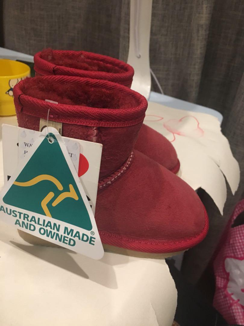 Opal UGG boots ruby colour