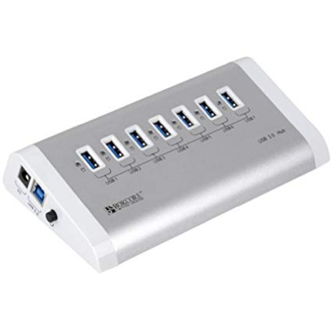 Orico Bc U3h7 Aluminum Usb 30 7ports Hub Backward Compatible With Pd 20 Hdd Case Via Vl812 Chipset Electronics Computer Parts Accessories On Carousell