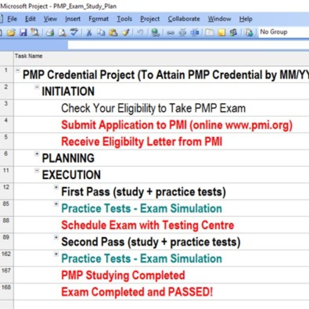 Pmp Exam Preparation Plan Books Stationery Textbooks