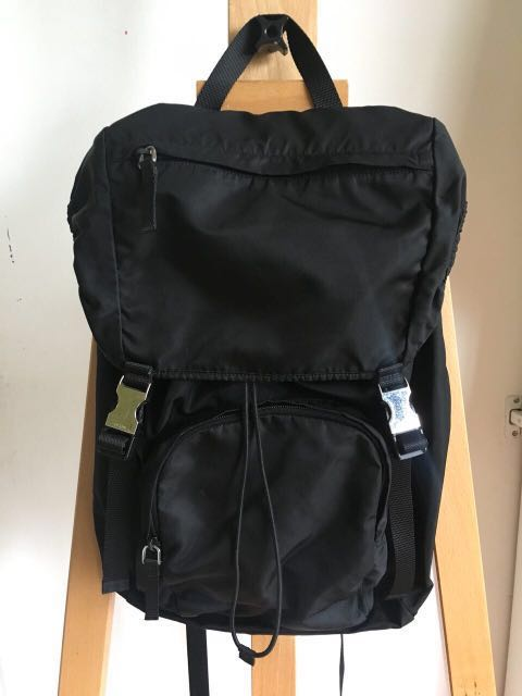b8a06ca29106 Prada V140 Nylon and Saffiano Leather Backpack Tessuto Montagn in ...
