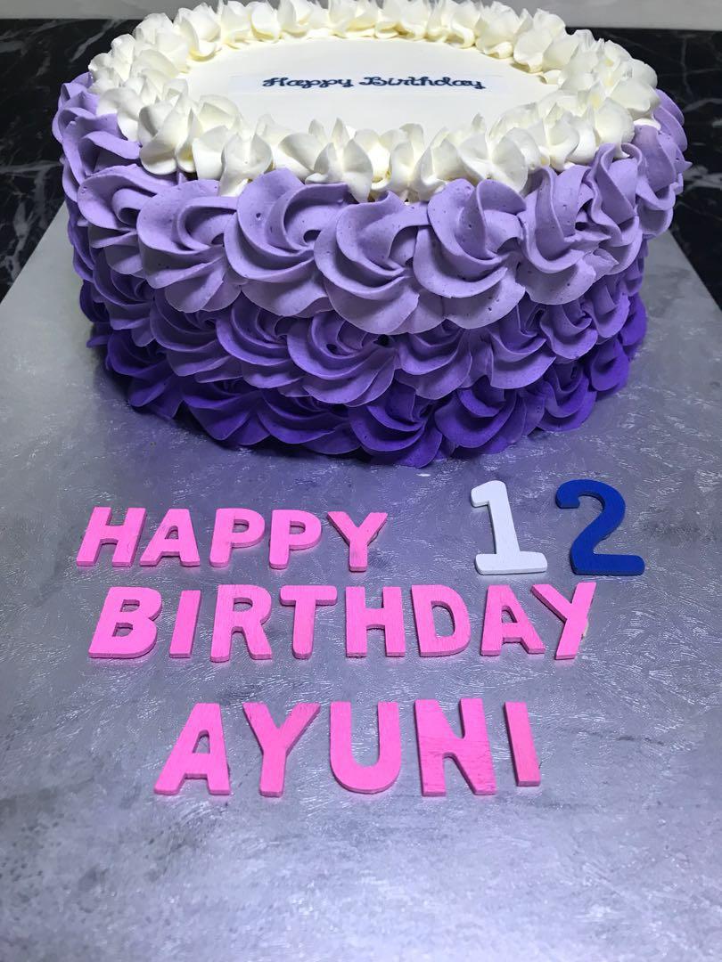 Rosette Birthday Cake Food Drinks Baked Goods On Carousell