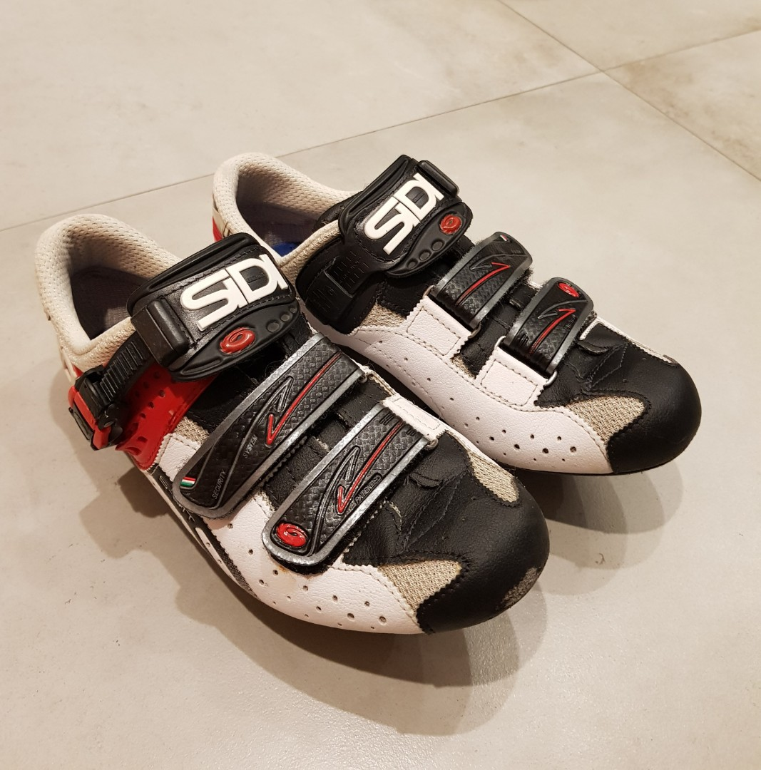 SIDI Genius 5 Fit Road Bike Bicycle Cycling Shoes White-Black-Red