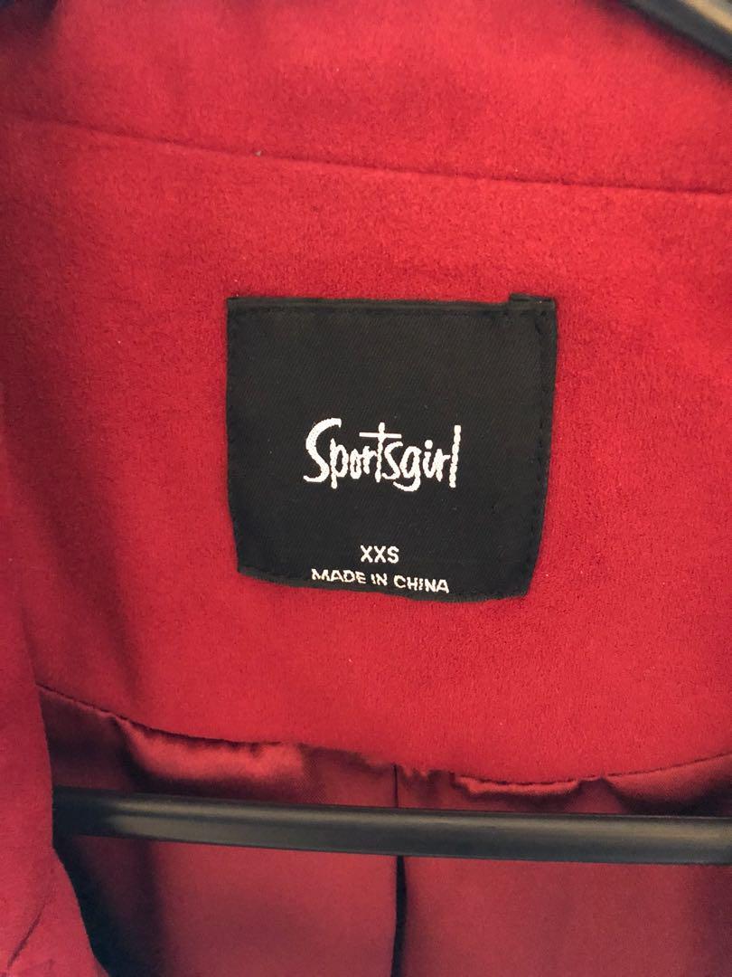 Sportsgirl red suede jacket