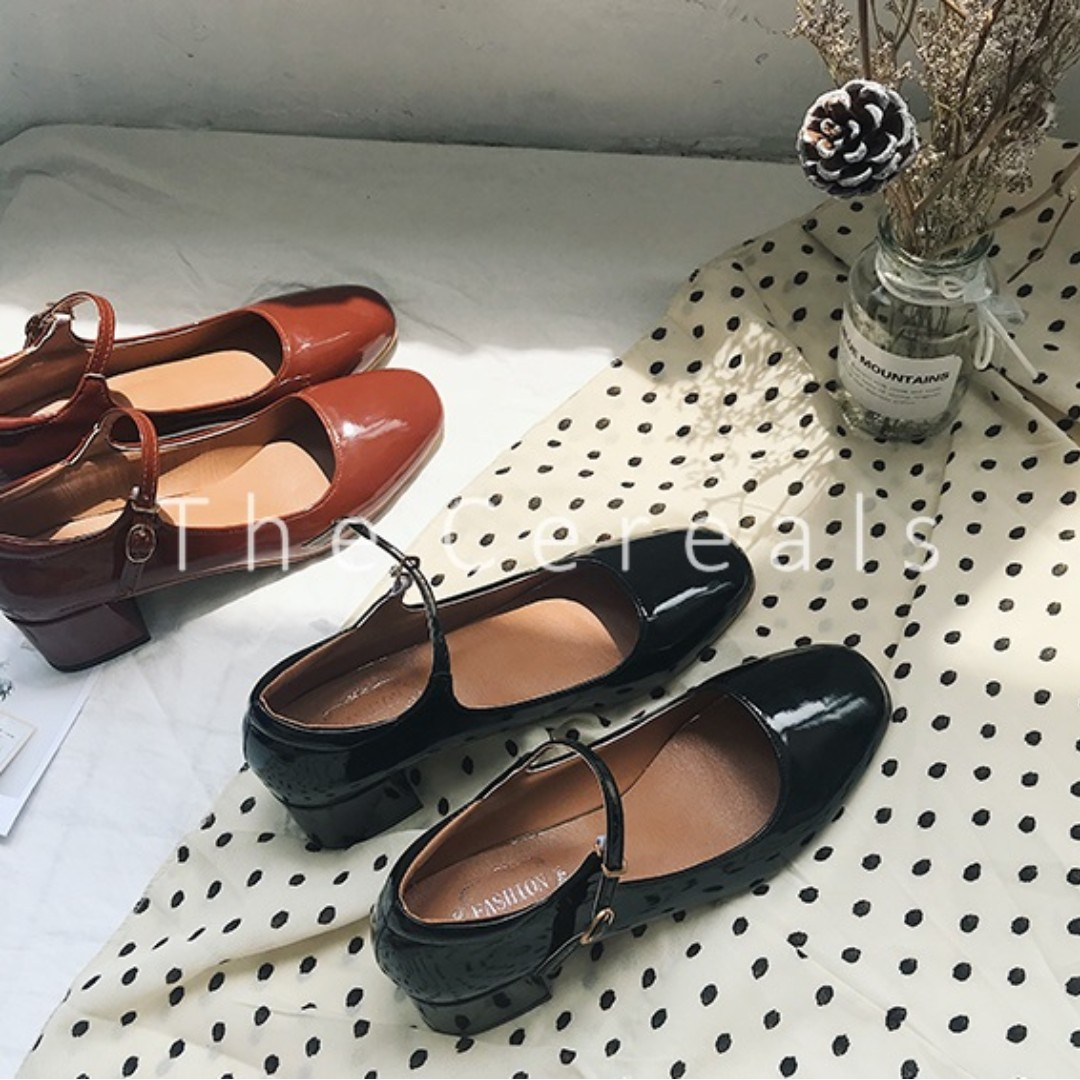 TC2582 Korea Marrie Jane Shoes (Brown f99a3f6468