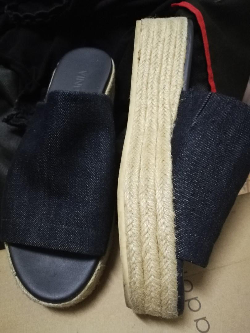 9e6af6863354 Vince Solana Denim Espadrilles flatform sandals in blue
