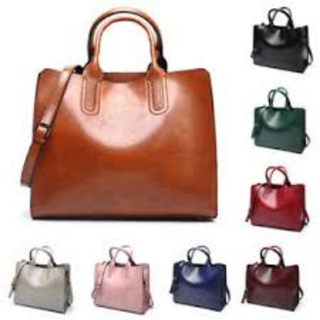 3890e17f6a5b Womens Large Leather Handbag Shoulder Bags Tote Purse Messenger Hobo ...