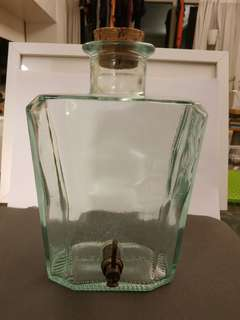 Italian Glass jar with working tap
