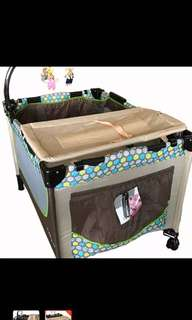 Baby 1st Playpen Crib (Compact when stored)