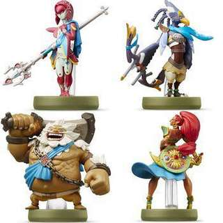 Legend of Zelda Champions Amiibo set of 4