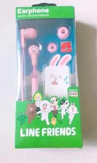 (罕有)泰國正版Line Friends_Cony入耳式連咪耳機