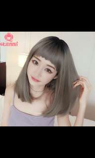 Preorder korean choppy bangs middle length wig * waiting time.15 days after payment is made * chat to buy to order