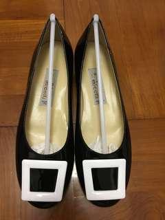 Paolo Micelli 意大利黑色猄皮女裝鞋(全新)size 36.5 合37碼穿