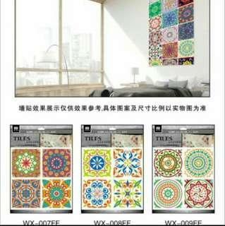 3D Tiles Sticker 4pcs/set 13x13cm per tile