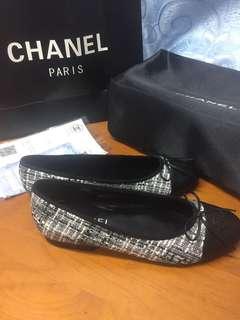 🚚 限時24hr五折!Chanel ballerina 芭蕾舞鞋 娃娃鞋 38號