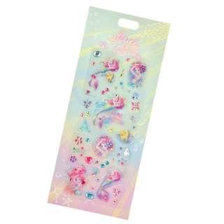 ✨官網正品代購✨ 日本迪士尼公主 水彩系列 貼紙 小美人魚 Ariel/長髮公主 樂佩/美女與野獸 貝兒 Belle 三款