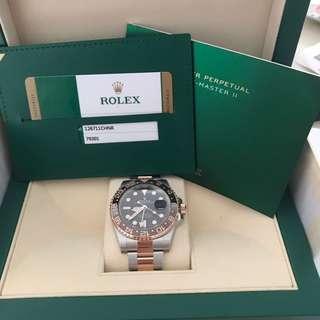 BNIB Rolex GMT-Master II 126711CHNR a.k.a. Rootbear
