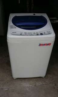 Used Toshiba washer 7.2kg Washing Machine Mesin Basuh Fully Auto stainless steel drum in Good Condition
