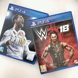 FIFA18 / WWE 2K18 - PS4 Game