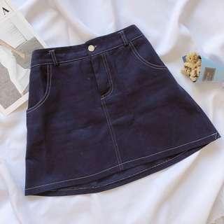 🚚 深藍紫 A字裙