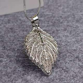 【Her Majesty的秘密花園】簡約時尚氣質個性樹葉造型長鏈長項鍊SLN013