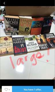 Cheap large crime thriller suspense exciting novels