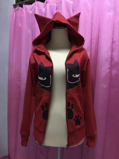✔✔Jaket hoodie merah jaket harajuku jaket anime cosplay jacket