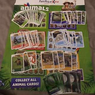 Fairprice Xtra animals cards to trade or sells